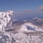 素晴らしい天気の大山